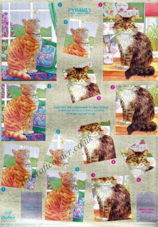 Cats Pyramex Pyramid 3d Decoupage from Dufex